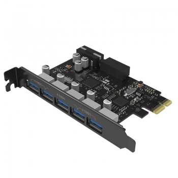 ORICO 5 Port USB3.0 PCI-E Expansion Card with Dual Chip (PVU3-5O2I)
