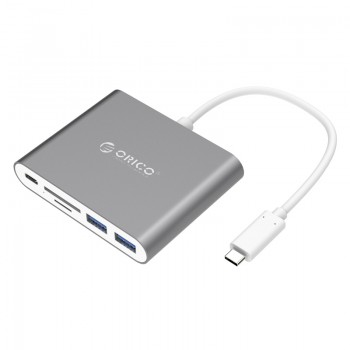 ORICO Aluminum Alloy Type-C to TF / SD / Type-C / USB3.0-A * 2 Adapter (RCC2A)