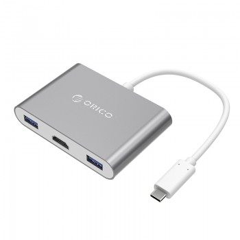 ORICO Aluminum Alloy Type-C to HDMI / Type-C / USB3.0-A * 3 Adapter (RCH3A)