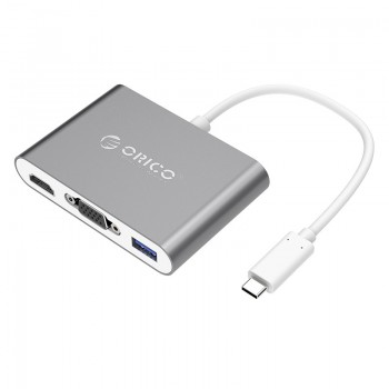 ORICO Aluminum Alloy Type-C to VGA / HDMI / Type-C / USB3.0-A Adapter (RCHV)