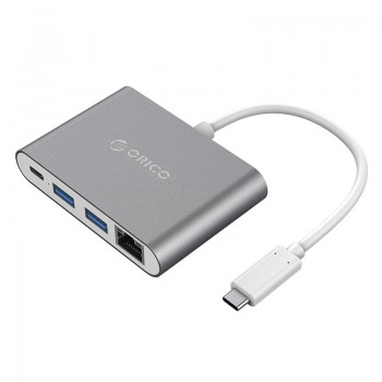 ORICO Aluminum Alloy Type-C to RJ45 / Type-C / USB3.0-A * 2 Adapter (RCR2A)