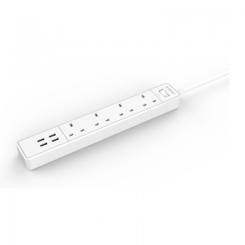 ORICO 4 AC Outlet Surge Protector with 4 USB Charging Port (OSC-4A4U-UK)