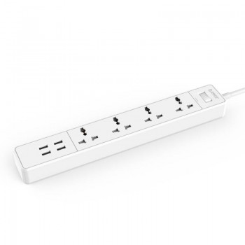 ORICO 4 AC Outlet Surge Protector with 4 USB Charging Port (OSC-4A4U-UN)