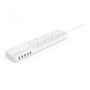 ORICO 4 AC Outlet Surge Protector with 5 USB Charging Port (OSJ-4A5U-UK)